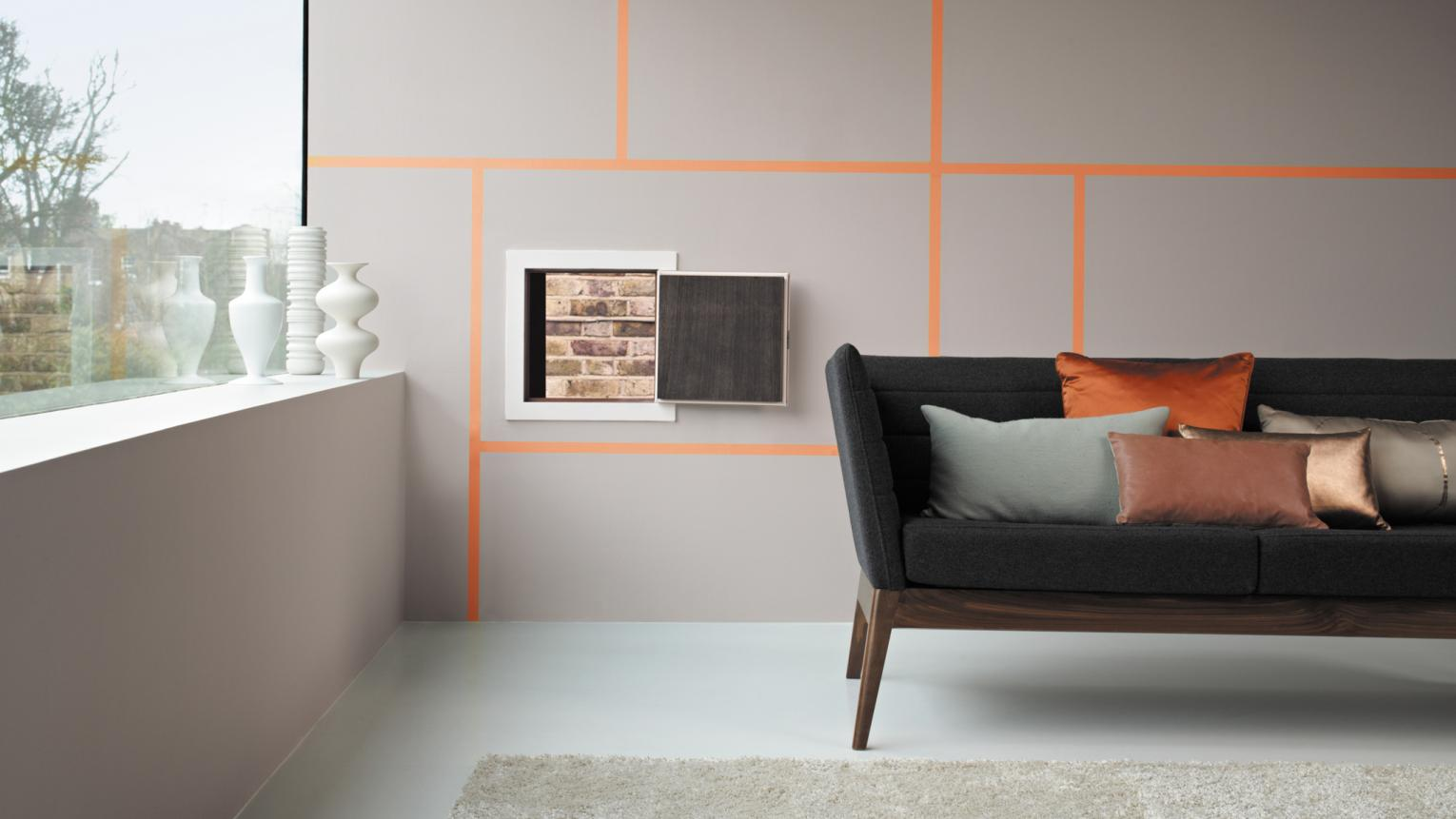 Flirt with colour by adding just a hint of bright orange.
