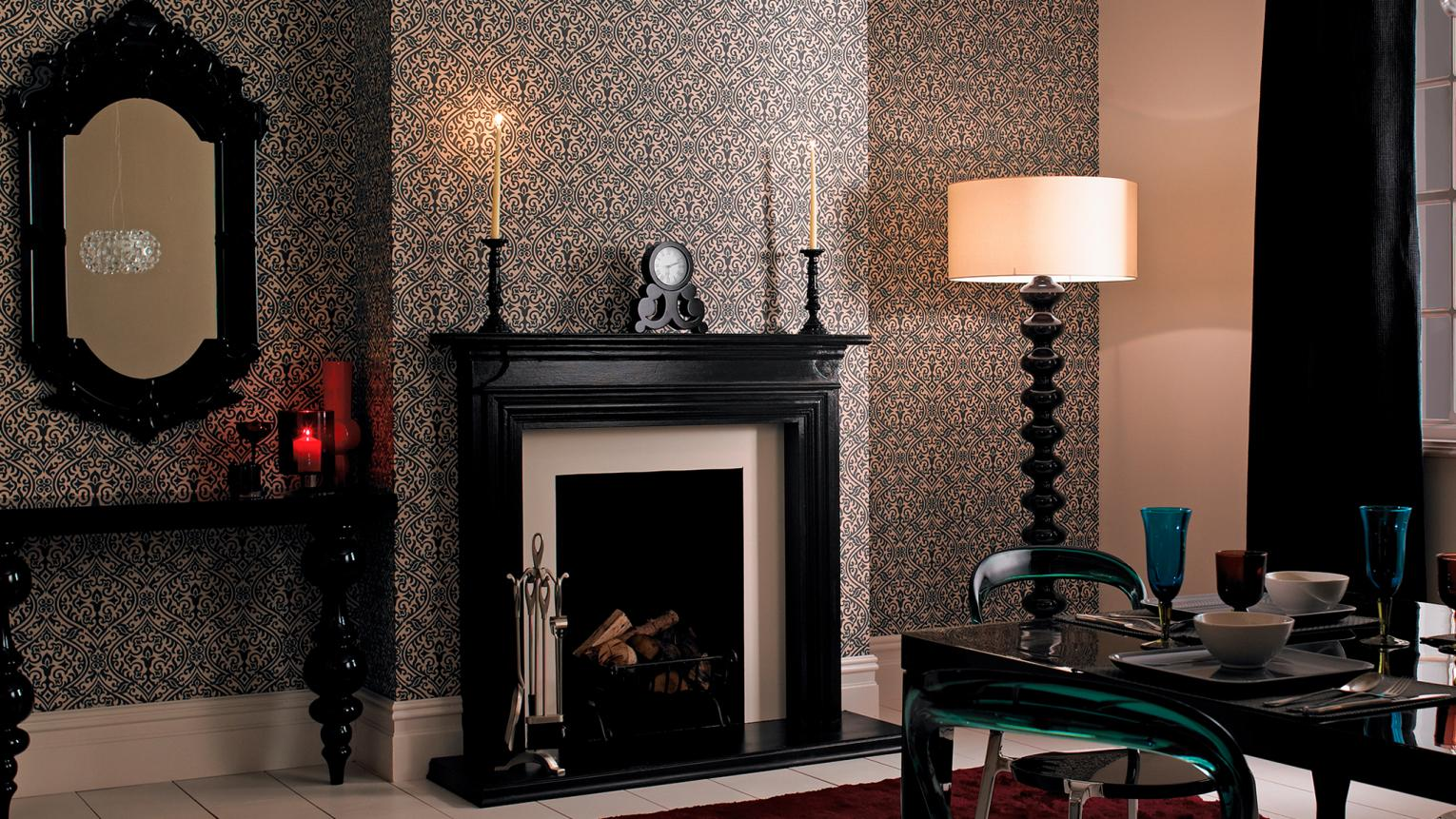 Just a touch of black can add instant drama and sophistication to a room.
