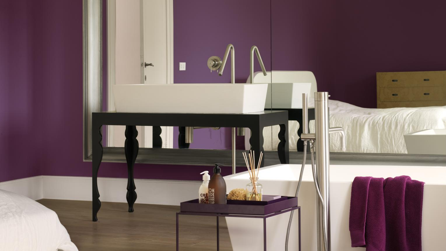Let luxury reign in the bathroom with a regal shade of purple.