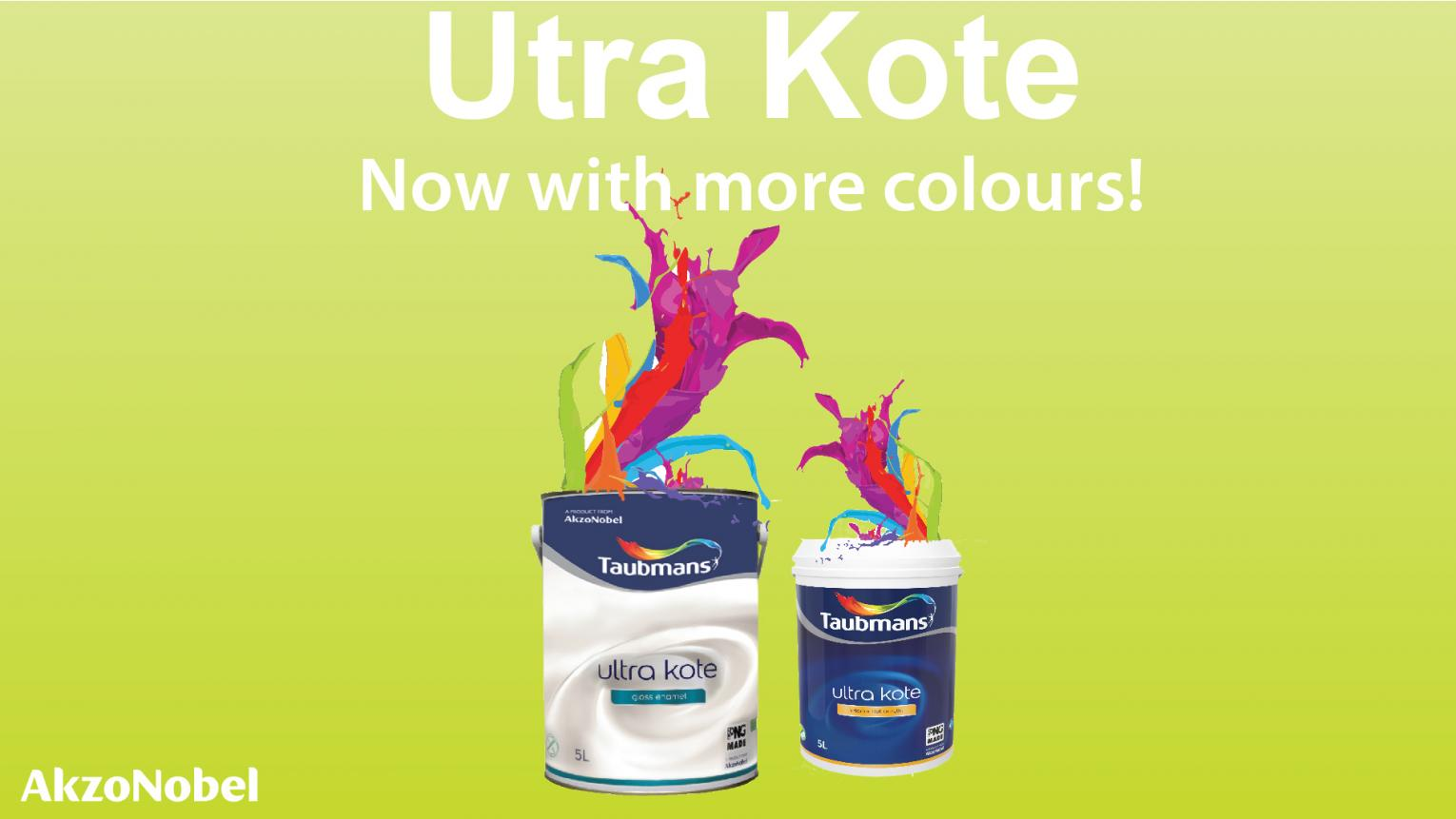 We have increase our colour offer in the Ultra Kote Range to 120 exciting colours.