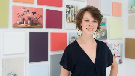 Marieke uses her colour expertise to make colour collections and tools that help guide people find the colour they love.